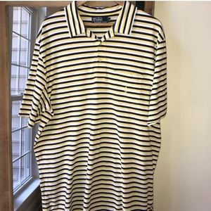 Polo by Ralph Lauren yellow and black striped polo